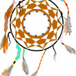 ストックベクタ: Vector illustration - tradition dreamcatcher