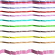 Vector illustration - multi colored and styles of ribbons in 3d on white — Stock Vector