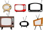Retro televisions — Stock Vector