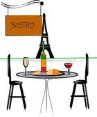 Vector illustration - classic bistro — Stock Vector