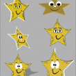 Cute yellow stars - Stock Vector