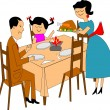 Family dinner — Stock Vector #17854169