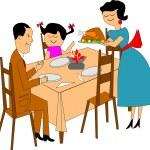 Family dinner — Stock Vector