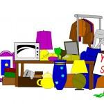 Yard sale clip art — Stock Vector