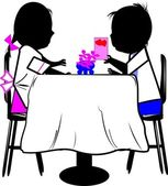 Couple have romantic dinner — Stock Vector