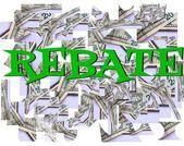 Rebate savings — Stock Photo