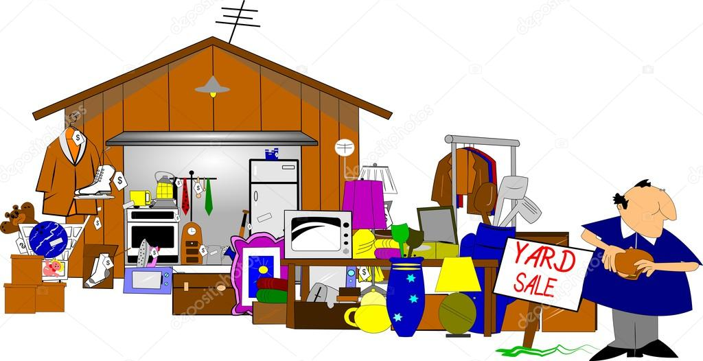 Garage Sale Stock Vector 169 Retroartist 17860049