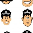 Police officers set - Stock Vector