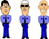 Policemen — Stock Vector