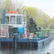 Stock Photo: River barge