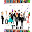 Fifties fun — Stock Vector