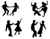 レトロな 1950 年代のダンサー — ストックベクタ