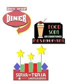 Diner and restaurant signs — Stock Vector