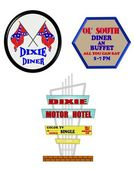Dixie diner signs — Stock Photo
