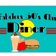 Fabulous fifties diner — Stock Photo