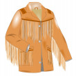 Fringe jacket — Stock Photo