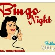Bingo night invite — Stock Vector