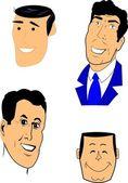 Ретро мужчины набор — Cтоковый вектор