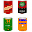 Old oil cans from fifties — Stock Photo #26143761