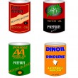 Old oil cans from fifties — Stock Photo