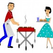 Stock Vector: Bbq season