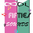 Cool fifties sounds — Stock Vector