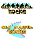 Old school rocks — Stock Vector