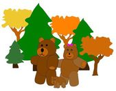 Bear family — Stock Vector