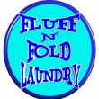 Fluff and fold laundry sign — Stock Vector