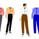 Fashion set for men — Stock Vector #27318887