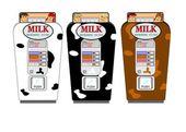 Old milk vending machine from fifties — Stock Vector
