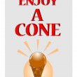 Enjoy a cone — Stock Vector