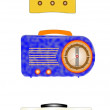 Vintage radios set — Stock Vector
