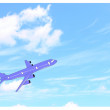 Airliner taking off — Stock Vector
