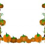Pumpkin border and frame — Stock Vector