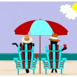On vacation concept  — Stock Vector