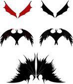 Dragon wings silhouette — Stockvektor