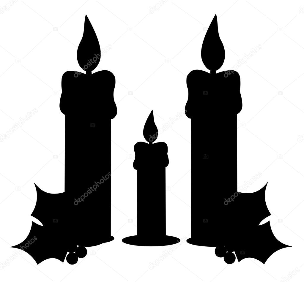 Candle Silhouette Stock Vector 135062705 - Shutterstock