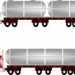Tanker trucks — Stock Vector