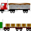 Trucks with loads  — Stock Vector