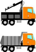 Construction trucks — Stock Vector