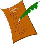 Ye olde christmas wish list — Stock vektor