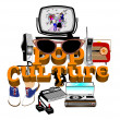Pop culture — Vector de stock #34689249