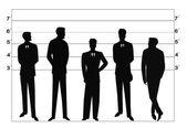 Police lineup — Stock Vector