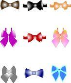 Bow tie set — Stock Vector