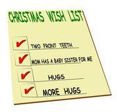 Kids christmas wish list — Stock Vector