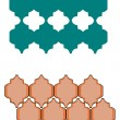 Stock Vector: Moorish patterns