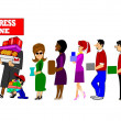 Stock Photo: Express line check out madness