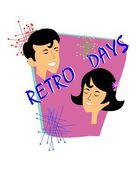 Retro days — Stock Vector