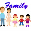 Stock Vector: Retro family portrait